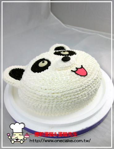 可爱动物 参考图片 编号小熊19号半立体蛋糕