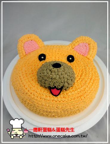 卡通半立体(头部) 参考图片小熊18号蛋糕蛋糕口味
