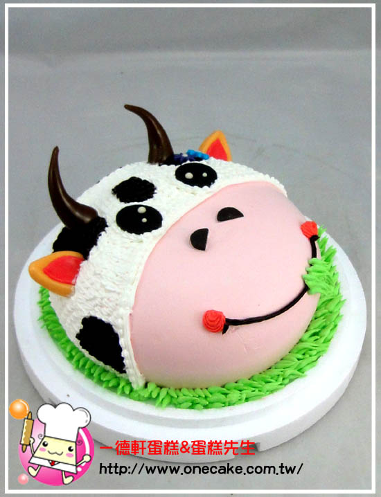 可爱动物 参考图片 乳牛7号蛋糕(进口翻糖制作)蛋糕