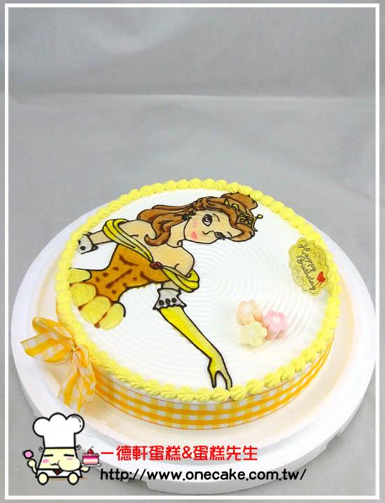 公主造型蛋糕图片_粉色公主蛋糕