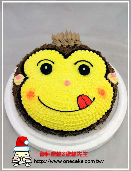 卡通半立体(头部) 参考图片 小猴子11号蛋糕蛋糕口味:可免费挑选,请