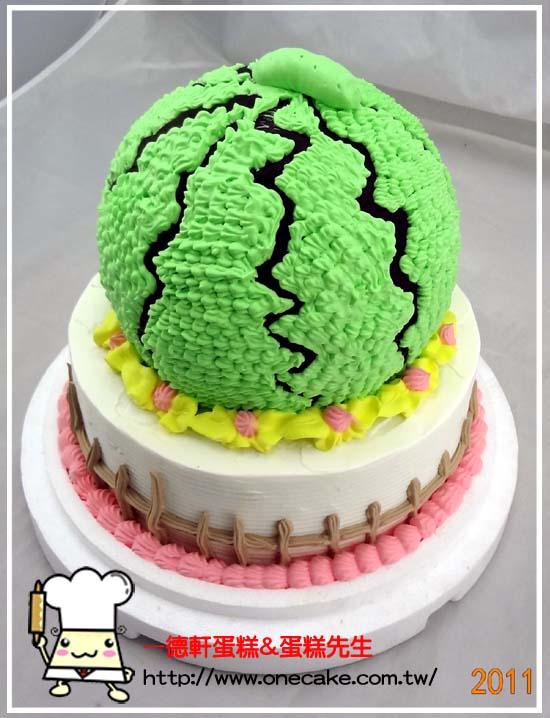 水果 参考图片西瓜4号蛋糕(气球身体)使用说明