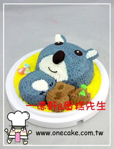 卡通半立体 参考图片 无尾熊2号蛋糕