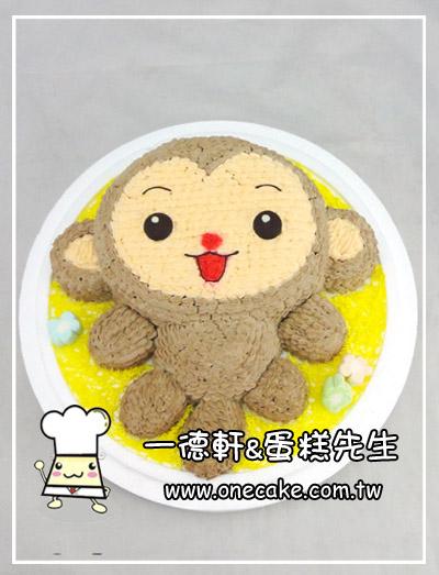 可爱动物小蛋糕